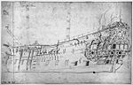 Portsmouth, 48-gun fourth-rate, built 1650, by Willem van de Velde.jpg