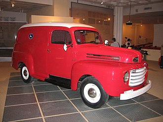 Israel Postal Company - Ford F-1 truck used by Israel Postal Company in 1948-1949, now at Eretz Israel Museum, Philatelic Building