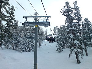 English: Powderbowl Express at Heavenly Ski Re...