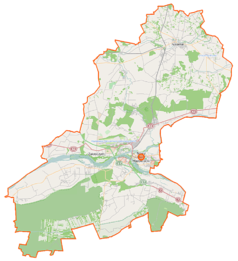 Mapa lokalizacyjna powiatu nowodworskiego
