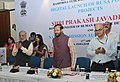 Prakash Javadekar launching the unique portal and mobile app of Rashtriya Uchchatar Shiksha Abhiyan (RUSA), a body under the aegis of the Ministry of Human Resource Development, in New Delhi.jpg