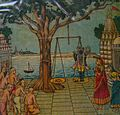 Praying the Lord Krishna.JPG
