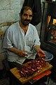 Preparing lamb liver kebab... (2044761712).jpg