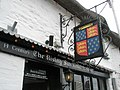 Pub sign above The Rising Sun - geograph.org.uk - 940573.jpg