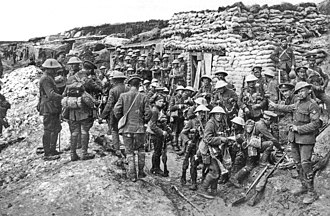 """Public Schools Battalions - A company of the Public Schools Battalion at """"White City"""" prior to the Battle of the Somme. Photo by Ernest Brooks."""