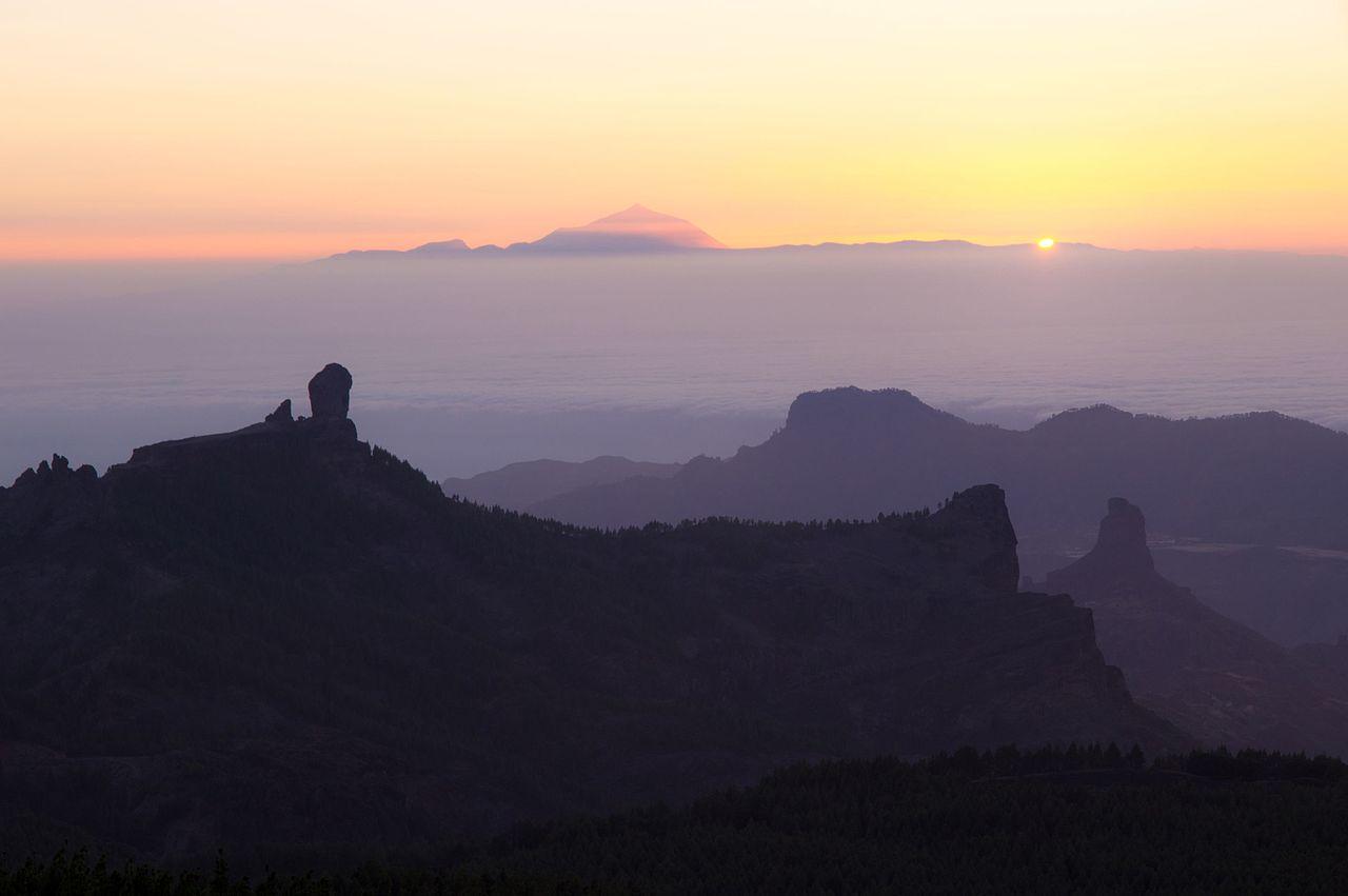 File Puesta Del Sol Desde Pico De Las Nieves Gran Canaria