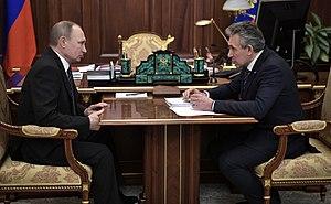 Sergei Gorkov - Vladimir Putin and Gorkov meet at the Kremlin, February 2017