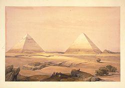 Giza: Litografía del siglo XIX