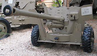 Ordnance QF 6-pounder - QF 6 pounder at Batey ha-Osef