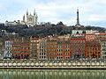 Quais de Saône, Fourvière et antenne à Lyon.JPG