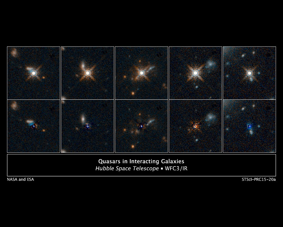 Quasars in interacting galaxies
