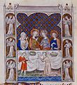 Queen Mary Psalter Marriage feast at Cana.jpg