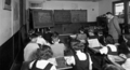 Queensland State Archives 1633 North Brisbane Intermediate School Class in Art Work April 1951.png