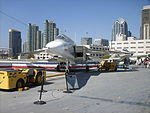 RA-5 Vigilante and San Diego skyline.jpg