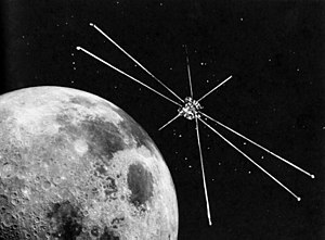 Explorer 49 - Artist's impression of Explorer 49 in orbit around the Moon