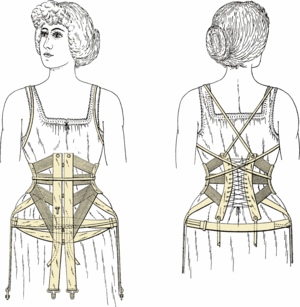 Waist cincher - A short corset from 1906