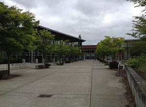 Redmond High School (Washington) - Main walk in front of RHS