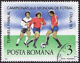 1990 FIFA World Cup stamp by the Posta Romana ROM 1990 MiNr4598 pm B002.jpg