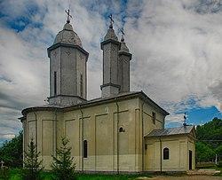 RO BZ Vintila Voda monastery St Nicholas church hdr 1.jpg