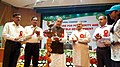 """Radha Mohan Singh lighting the lamp to inaugurate the """"AGRIVISION 2017 National Convention on Agriculture for Prosperity and Sustainable Development"""", organised by Vidyarthi Kalyan Nyas.jpg"""