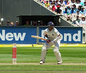Rahul Dravid - Dravid batting against Australia at the MCG