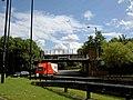 Railway bridge on Oldham Mumps roundabout - geograph.org.uk - 1400082.jpg