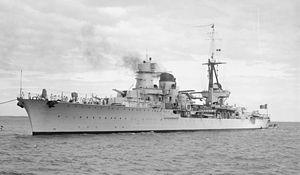 Italian cruiser Raimondo Montecuccoli - Image: Raimondo Montecuccoli SLV Green