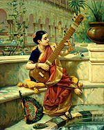 Raja Ravi Varma, Lady playing Sitar.jpg