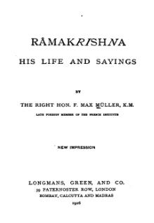 Ramakrishna - His Life and Sayings.djvu