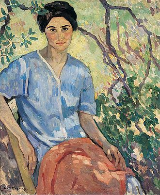 Anne Bremer - Anne Bremer, Ravenlocks, ca. 1917, oil on canvas, 30 1/2 x 25 inches, Mills College Art Museum