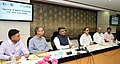 Ravi Shankar Prasad addressing at the signing ceremony of an MoU for providing financial assistance to expand & strengthen functioning between CSC and SIDBI, in New Delhi.JPG