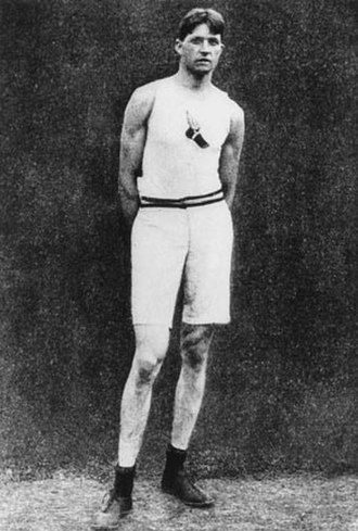 1900 Summer Olympics - Ray Ewry, the winner of the standing high jump and standing long jump.