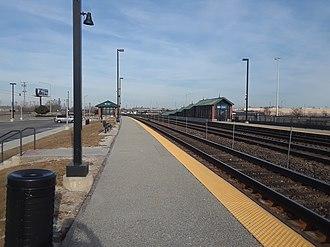Cicero station (Metra) - Image: Rebuilt Cicero Metra station