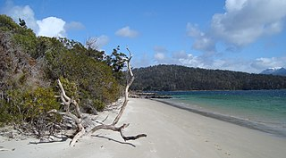 Recherche Bay bay in Tasmania, Australia
