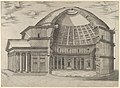 Reconstruction of the Pantheon in Rome, seen from the side, cut away to reveal the interior MET DP847231.jpg