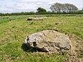Recumbent stones at Kingston Russell stone circle - geograph.org.uk - 179136.jpg