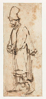 Rembrandt Walking Man in a High Cap.jpg