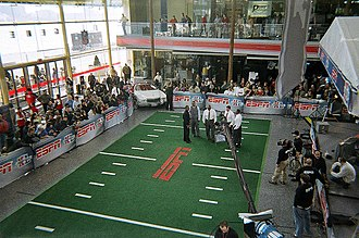 Media in Detroit - Wintergarden was turned into a makeshift studio for ESPN during their Super Bowl XL coverage.