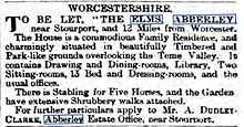 Rental notice 1892 The Elms Abberley.jpg