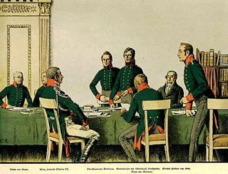 Royal Prussian Army of the Napoleonic Wars - Meeting of the reformers in Königsberg in 1807, by Carl Röchling
