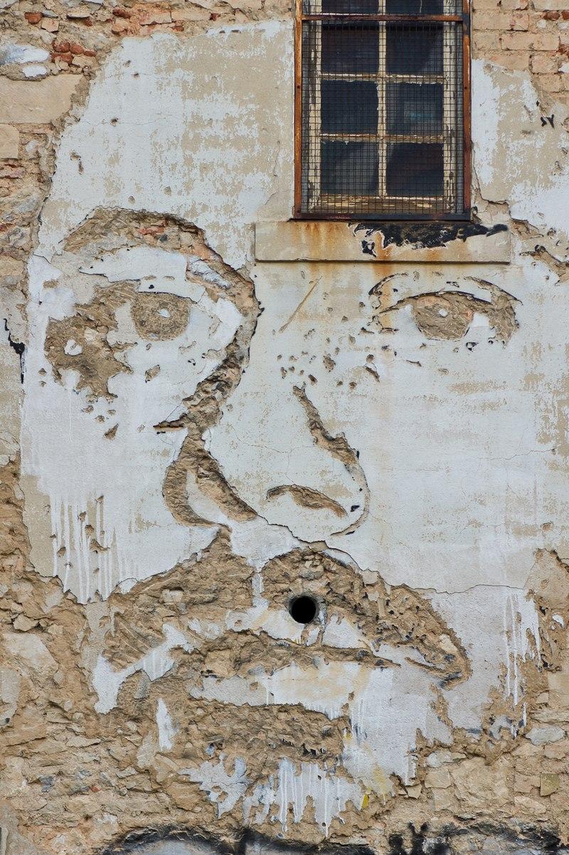 VHILS - autoportrait