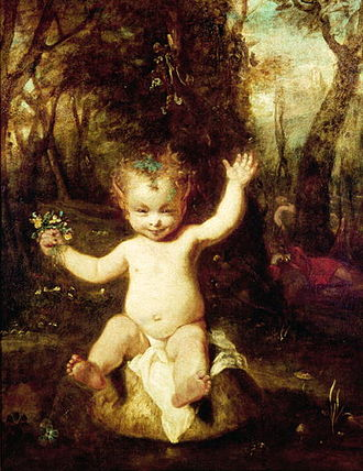 Puck (A Midsummer Night's Dream) - In Puck, by Sir Joshua Reynolds, for the Boydell Shakespeare Gallery, the once-dangerous figure is rendered harmless