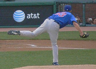 Rich Hill (pitcher) - Hill pitching for the Chicago Cubs in 2006