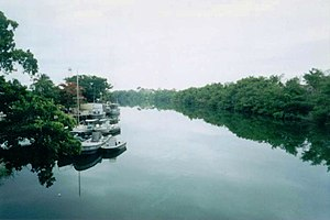 Hondo River (Belize) - The Rio Hondo, border between Mexico and Belize