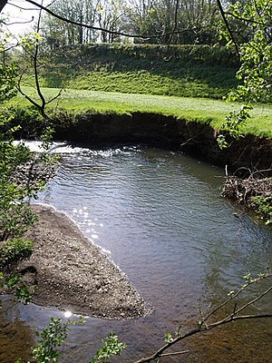 River Lew - River Lew near to its confluence with the River Lyd