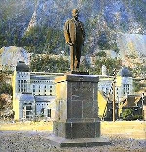 Sam Eyde - Statue of Sam Eyde at Rjukan by Gunnar Utsond unveiled in 1920