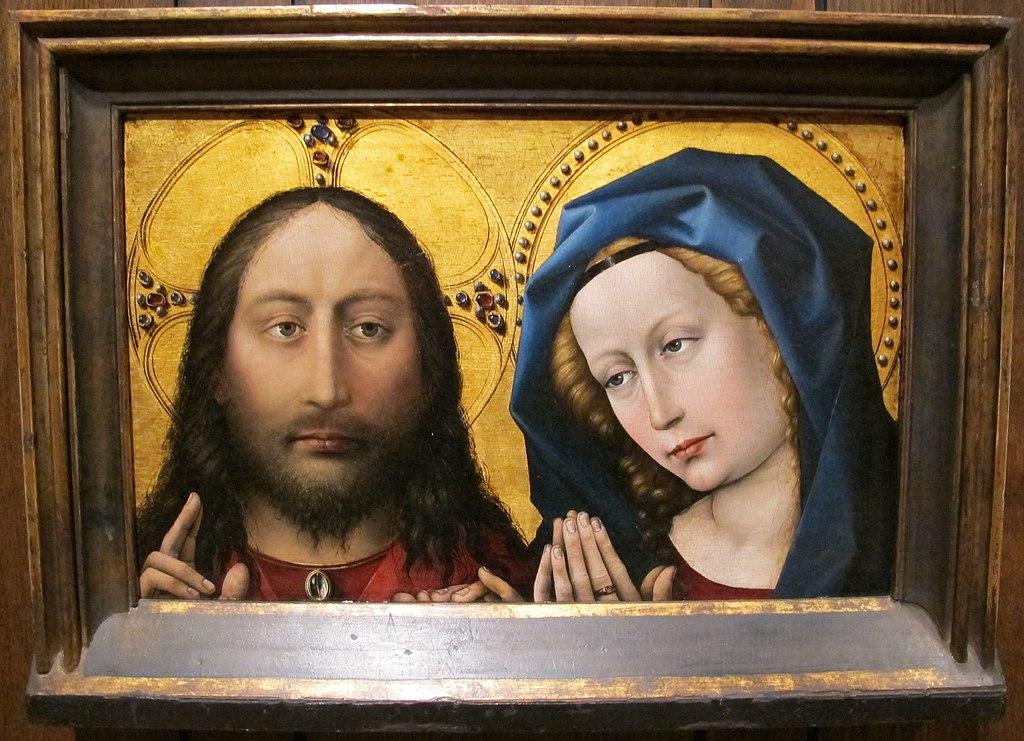 Robert campin, cristo e la vergine, 1430-35 ca..JPG