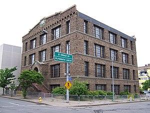 Bevier Memorial Building - The Bevier Memorial Building, barricaded, in June 2010
