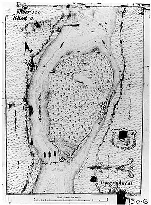 Black Hawk State Historic Site - Map of Rock Island at Saukenuk, 1820