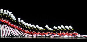 English: The Radio City Rockettes perform the ...